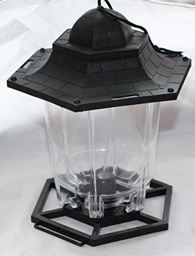 Garden Essentials Black Gazebo Wild Bird Feeder