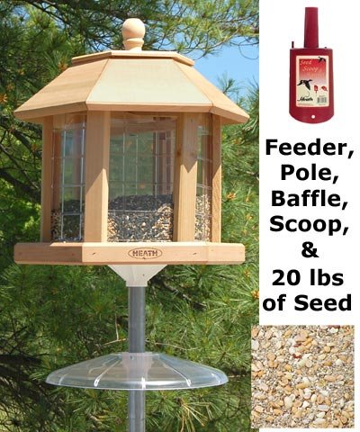 Heath Le Grande Gazebo Combo Bird Feeder With Seed