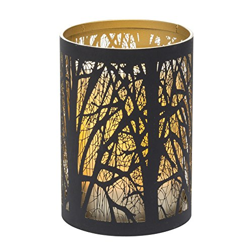 Candle Impressions CAT11851BK IndoorOutdoor Laser Cut Tree Luminary with Programmable Timer 5