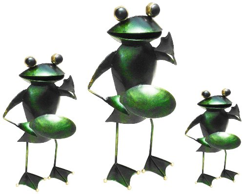 D-art Collection Iron Candle Holder Frog Set Of 3