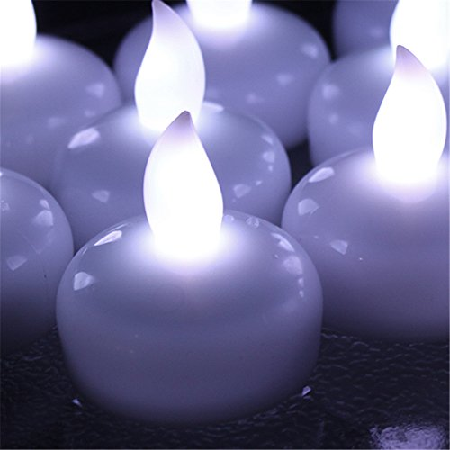 Flameless Led Candles&65292agptek 12-piece Flameless Waterproof Floating Tealight - Cool White