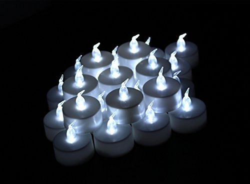 Led Tea Lights Jofan 24pcs White Non-flickering Flameless Candle Led Tealights For Birthday Wedding Restaurants