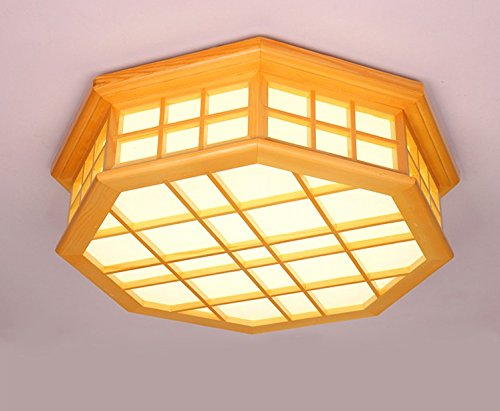 Warm wood ceiling wood creative bedroom lamp living room lamp wooden lamp Chinese Restaurant