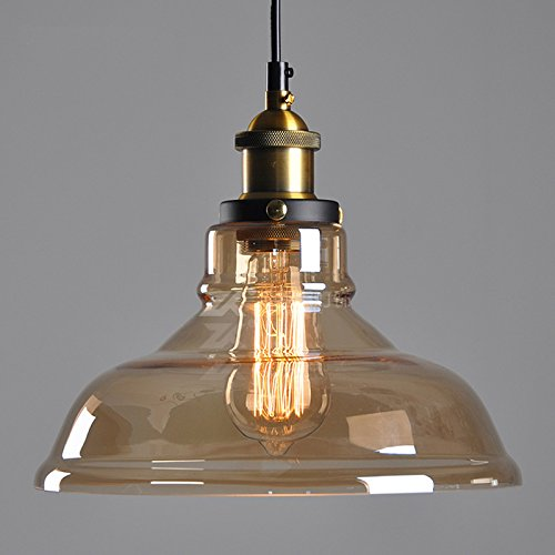 Winsoon 11 X 10 Inch Vintage Industrial Ceiling Lamp Clear Glass Pendant Lighting For Kitchen Island Loft Shade