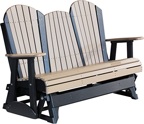 Luxcraft Recycled Plastic 5 Adirondack Glider Chair