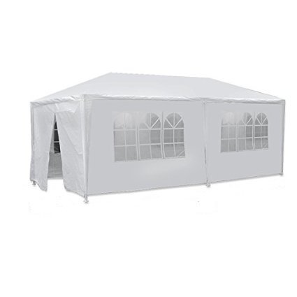 Smartxchoices Outdoor Camping Party Wedding Tent Patio Tent Gazebo Canopy with Side walls White,10 x 20