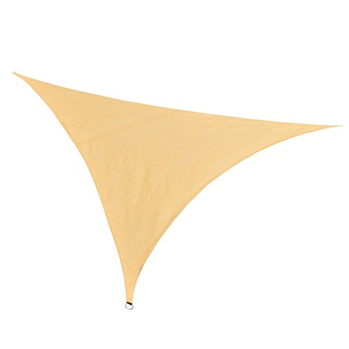 RainLeaf 10 x 10 x 10 Triangle Sun Shade Sail for Outdoor and Patio 2nd Generation Desert Sand