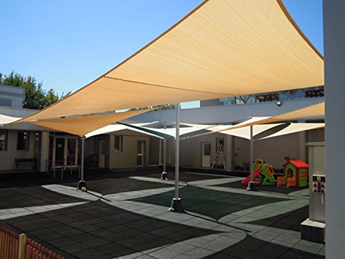 Shade&Beyond 8x10 Heavy Duty Rectangle Shade Sail UV Top Outdoor Canopy for Patio Bamboo Color - 5th Generation