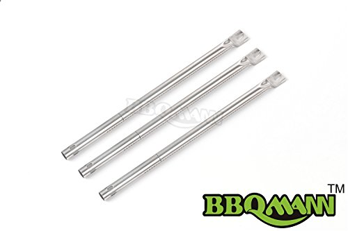 BBQMANN 167313-pack BBQ Pipe Tube Gas Grill Burner Replacement for Select Gas Grill Models By Amana Surefire and Others 17 18x 34