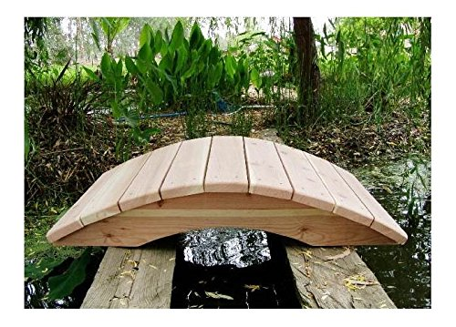 4 ft Redwood Garden Bridge - No Posts 4 ft Sealed No Post Bridge