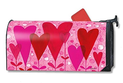MailWraps Heart Flowers Mailbox Cover 01123