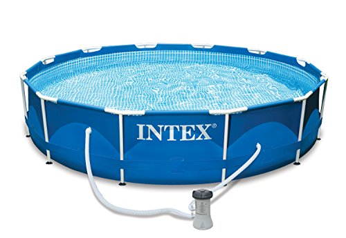 15 Foot X 33 Inch Intex Metal Frame Round Above Ground Swimming Pool - 28221eh