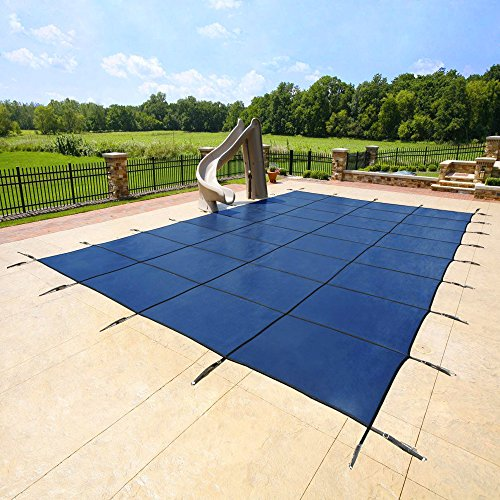 20x40 Blue Mesh - Rectangle Inground Safety Pool Cover - 15 Year Warranty - 20 ft x 40 ft In Ground Winter Cover