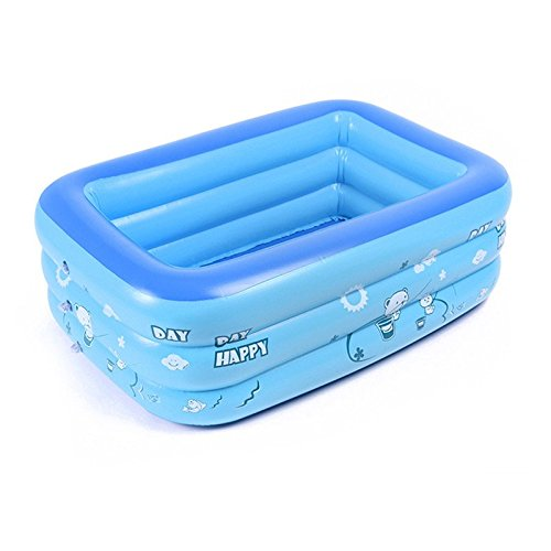 BELUPAI Baby Inflatable Folding Bath Pool Extra Thick Baby Blue Swimming Pool Portable Travel Shower Basin Bathtub for Baby and Kids