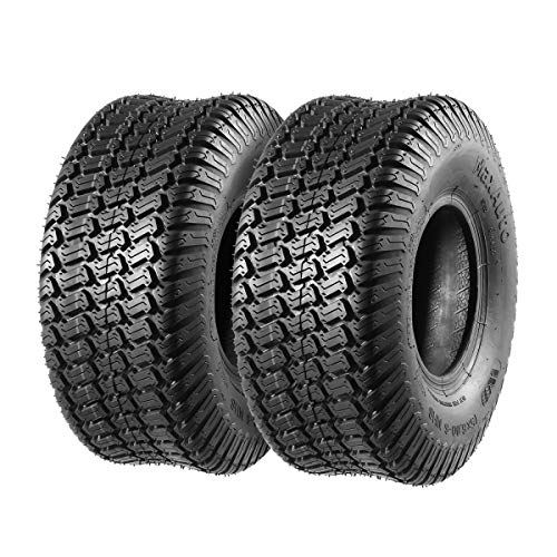 MaxAuto 15x600-6 15x6x6 15-6-6 Turf Tires Replacement for John Deere Tractor Riding Mover Lawn Garden Tire 4PR Set of 2