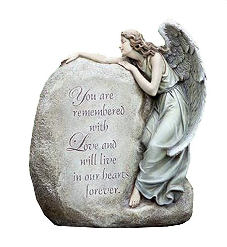 Napco Forever In Our Hearts Memorial Angel Garden Statue 11&quot