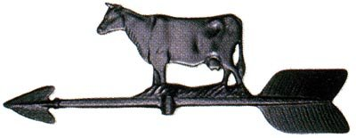 Montague Metal Products 24-Inch Weathervane with Cow Ornament