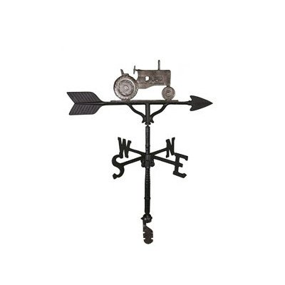 Montague Metal Products 32-inch Weathervane With Swedish Iron Tractor Ornament